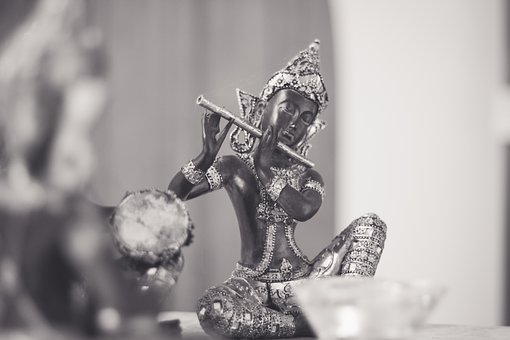 Musician, Asia, People, Figurine, Two, Sculpture, Group