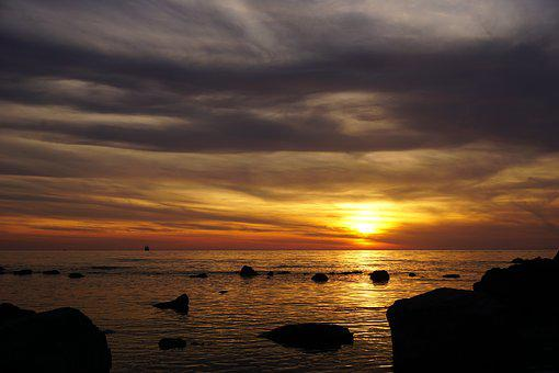 Sunset, Dusk, Dawn, Waters, Sun, Water, Sky, Lake
