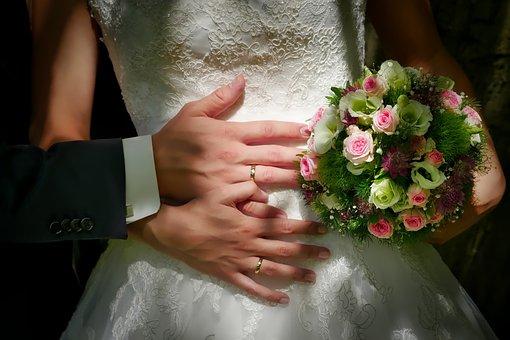 Bride And Groom, Wedding, Groom, Human, Flower, Ring