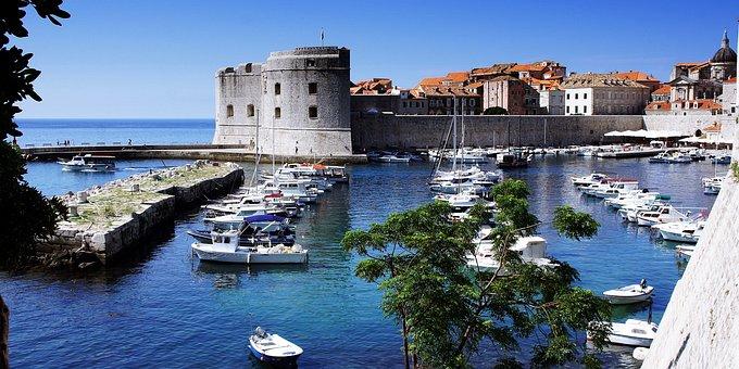 Dubrovnik, Harbor, Port, Moorings, Boats, Landmark