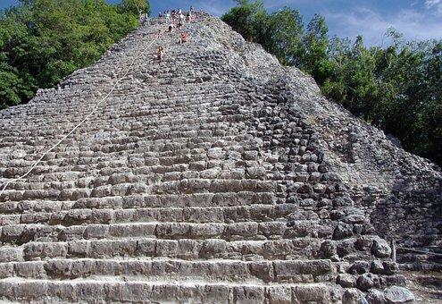 Mexico, Coba, Pyramid, Maya, Antique