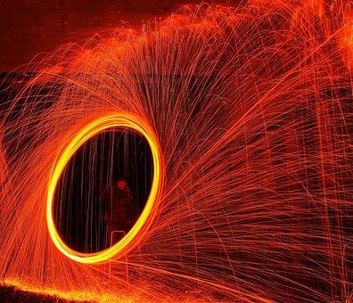 Flare-up, Slightly, Movement, Energy, Bright, Hot, Heat