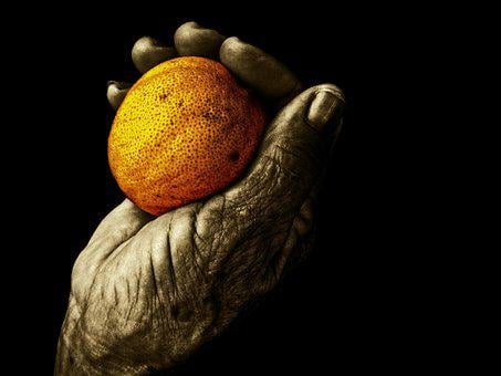 Fruit, Food, Hand, Elder, Old, Wrinkle, Third Age