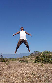 Sky, Outdoors, Nature, Summer, Freedom, Active, Jump