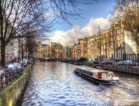 Amsterdam, Canal, City, Water, Travel, River