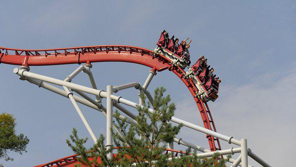 Roller Coaster, Amusement Park, Theme Park, Seemed