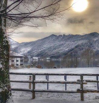 Snow, Nature, Winter, Landscape, Wood, Schliersee