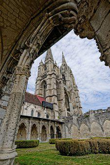 Soissons, France, Cathedral, Church, Architecture
