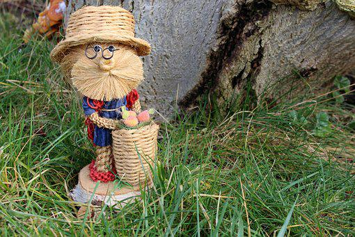 Grandpa, The Figurine, Character, Braid Twine, Lawn