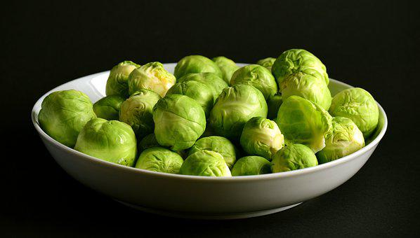 Brussels Sprouts, Green, About, Raw, Winter Vegetables