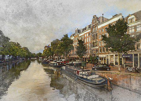 Water, City, Amsterdam, Architecture, Town, Travel