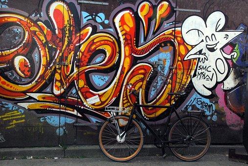 Art, Graffiti, Culture, Bicycle, Wall, Colorful, Urban