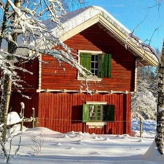 Wood, House, Bungalow, Window, Architecture, Chalet