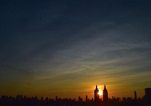 Sunrise, Dawn, Sky, Morning, Cityscape, Cloud, Sun