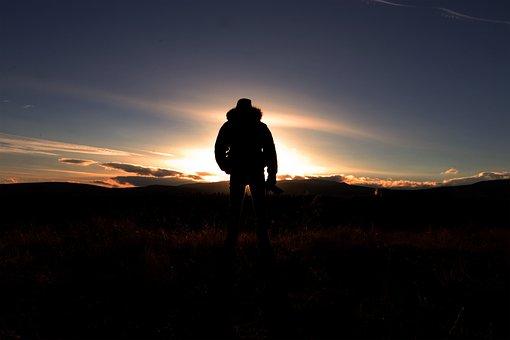 Sunset, Dusk, Dawn, Silhouette, Sky, Landscape, Evening