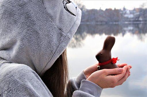 Bunny Girl, Easter, Chocolate, Hare, Winter