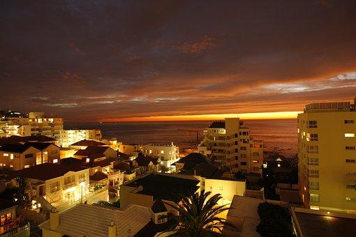 Travel, City, Panorama, Horizontal, Dusk, Evening
