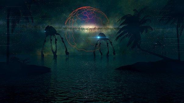 Water, Nature, Sun, Sea, Ocean, Tech, Ai, Robot, Mech