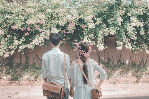 People, Wedding, Nature, Flower, Flora, Outdoors, Tree