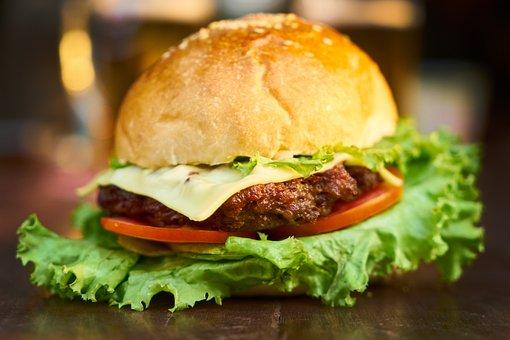 Burger, Meat, Hot, Bread, Macro, Photography