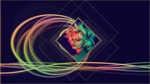 Poster, Music, Fashion, Sound, Girl, Retro