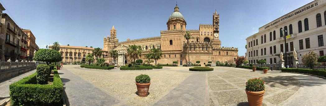 Architecture, Old, Travel, Culture, Panoramic, Palermo