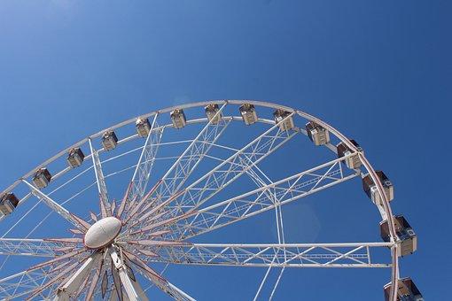 Wheel, Fun, Ferris Wheel, Luna Park Traveling, Sky
