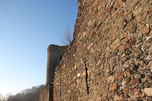 Castle, Wall, Fixing, Stone, Castle Wall, Hunsrück
