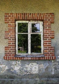 Window, Wall, Brick, Home, Old, Facade, Old Window