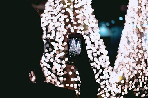 Illuminated, Fairy, Lights, Christmas, Bokeh, Bright