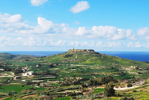 Gozo, Malta, Lighthouse, Panoramic, Seashore, Nature