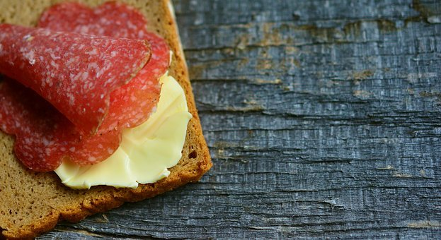 Bread, Bread And Butter, Salami, Butter, Nutrition