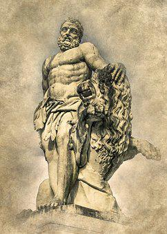 Hercules, Sculpture, Statue, Old, Monument, Europe