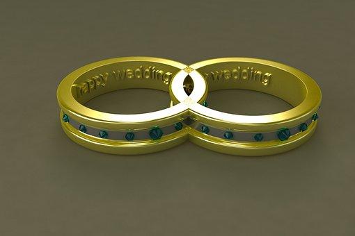 Ring, Of, Wedding, Gold