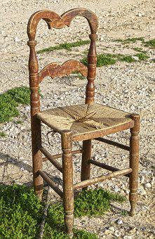 Chair, Old, Wood, Rustic