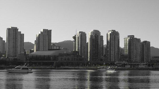 Skyline, Skyscraper, Town Center, City, Architecture