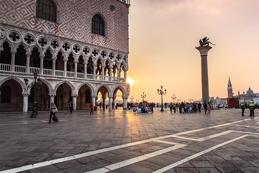 Architecture, Travel, Outdoors, Building, Venice, Dawn