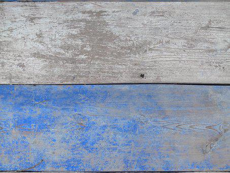 Old, Retro, Wall, Texture, Wood, White And Blue