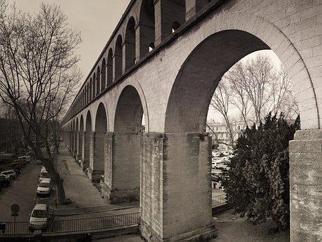 Architecture, Water Pipe, Aqueduct, Antique, Bridge