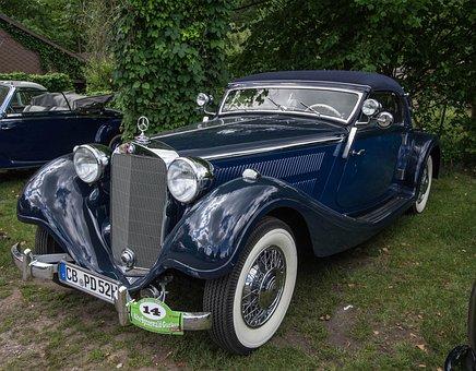 Auto, Vehicle, Classic, Chrome, Transport System