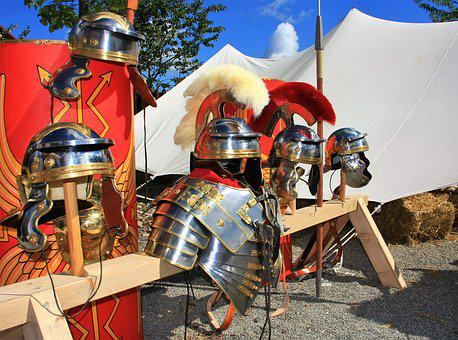 Armor, Helm, Sword, Romans, Breastplate, Break, History