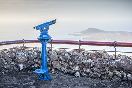 Waters, Sea, Nature, Sky, Coast, Binoculars, Telescope