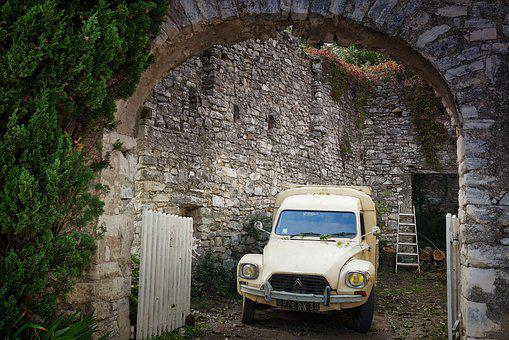 Architecture, Old, Travel, Antiquity, Wall, 2cv, Goal