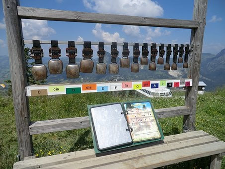 Chimes, Cowbells, Mountains, Holiday, Germany, Music