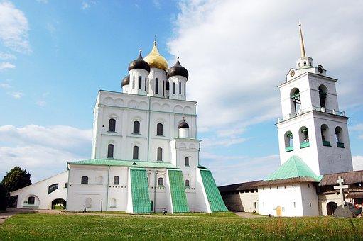 Architecture, Church, Religion, Sky, Outdoors, Pskov