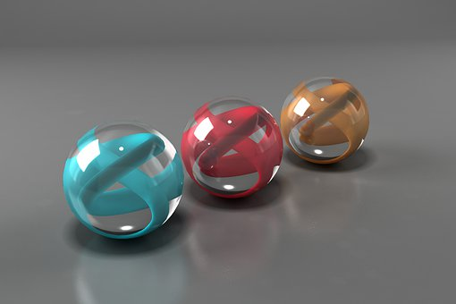 Bright, Spheres, Vivid, Round, Glass