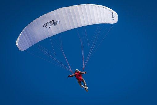 Parachute, Air, Fly, Skydiving, Sky, Adventure, Wind