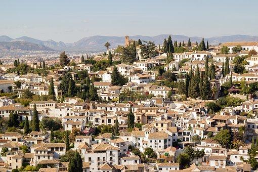 Granada, Albaicin, Albayzin, Skyline, Panoramic