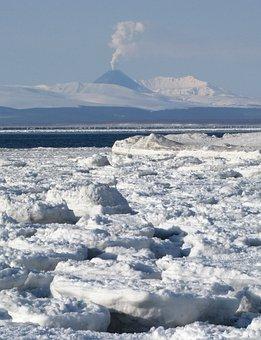 The Pacific Ocean, Sea, Volcano, The Eruption, Seascape