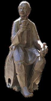 Winemaker, Wine Barrel, Sculpture, Figure, Monument